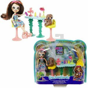 Enchantimals Slow-Down Salon & Sela Sloth Doll